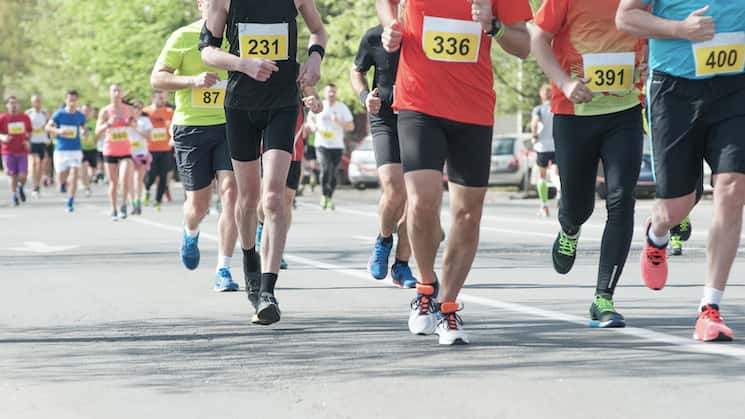 Picture of runners running a race